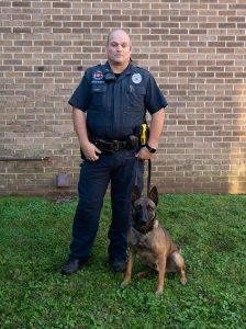 K-9 Officer-Charles Haubrich and K-9 Odin